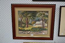 Stephen Salzmann Country Scene, approx 34cm x 42cm