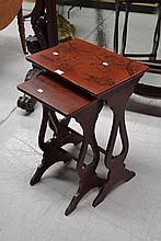 Antique Chinoiserie nest of two tables (2)