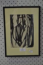 Bill Coleman 1922 - 93,pen abstract, 20.5 x 15 cm