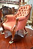 Antique walnut Victorian gentleman's arm chair