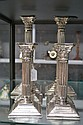 Rare set of six Corinthian column plated