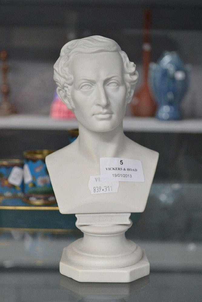 Parian bust of Weber