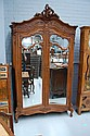 Fine antique French Louis XV walnut two door