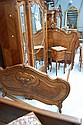 Antique French Louis XV walnut bed