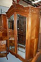Antique French Louis XV walnut armoire, (to match