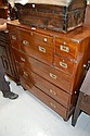 Antique Anglo Indian campaign secretaire chest,