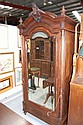 Antique French Rosewood single door armoire. 240cm