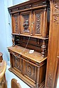 Antique French Henri II walnut two height buffet,