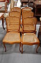 Six French Louis XV style Cherry wood chairs (6)