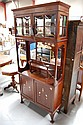 Antique Arts & Crafts inlaid display cabinet,