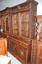 Antique French Henri II bookcase buffet, 240 cm H