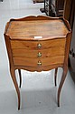 French Louis XV three drawer bedside cabinet