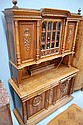 Antique French Henri II walnut two height buffet