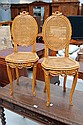 Pair of antique French Louis XVI chairs, caned