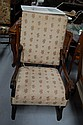Antique French High back arm chair, late 19th