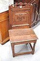 Antique English oak Charles II panelled back chair