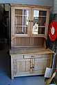 Two height antique pine kitchen dresser