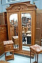 Fine antique French Louis XVI parquetry two door