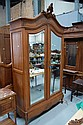 Antique French Louis XV walnut armoire. 246cm h x