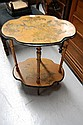 Antique French two tiered occasional table,