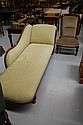 Antique Victorian chaise lounge and arm chair (2)