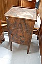 Antique Faux rosewood painted pine bedside