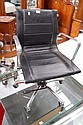 Eames style office chair in black leather