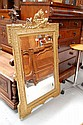 Antique 19th century French gilt surround mirror,