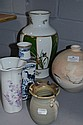 Five assorted ceramic vases (5)