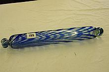19TH CENTURY NAILSEA BLUE FLASHED GLASS ROLLING