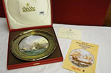 BOXED SPODE BONE CHINA ARMADA PLATE NO6 'REVENGE