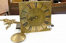 PRESBURY OF COVENTRY BRASS FACED 30HR CLOCK