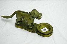 CAST METAL NOVELTY DOG NUTCRACKER