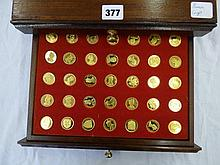 CASED SET OF 'OUR ROYAL SOVEREIGNS' BY DANBURY