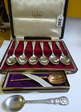 CASED SET OF SIX CORONATION 1953 EPNS TEASPOONS