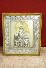 20TH CENTURY ICON IN GLAZED FRAME 25 X 29CM