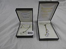 TWO CASED BYZANTIUM COLLECTION STERLING SILVER
