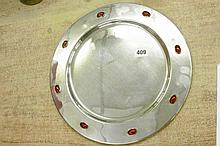 ARTS & CRAFTS CIRCULAR DISH, THE RAISED BORDER