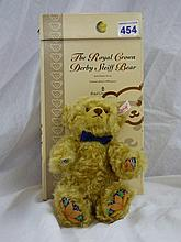 BOXED STEIFF THE ROYAL CROWN DERBY BEAR DARK BLOND
