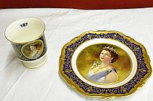 COALPORT BONE CHINA LTD ED NO 316/1000 QEII GOLDEN