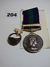 QUEEN ELIZABETH II MEDAL WITH CYPRUS BAR TO: