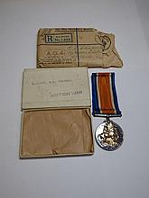 WWI 1914-1918 SERVICE MEDAL TO 2ND LIEUTENANT RS
