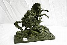 CAST SPELTER MARLEY HORSE GROUP AFTER COUSTEAU