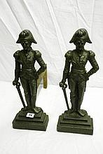 PAIR OF 19THC CAST IRON LORD NELSON FIGURAL