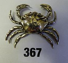 SILVER BAR BACK CRAB BROOCH