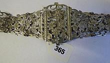 HM BIRMINGHAM SILVER 1907 FILIGREE NURSES BELT