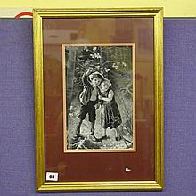 J & J CASH LTD WOVEN MONOCHROME PICTURE FRENCH