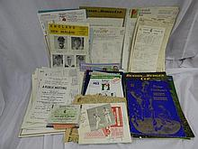 SELECTION OF MAINLY COUNTY CRICKET EPHEMERA,