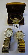 THREE GENTLEMANS WRISTWATCHES, TWO QUARTZ, ONE