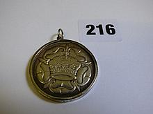 EDWARD DUKE OF WINDSOR SILVER MOUNTED MEDALLION